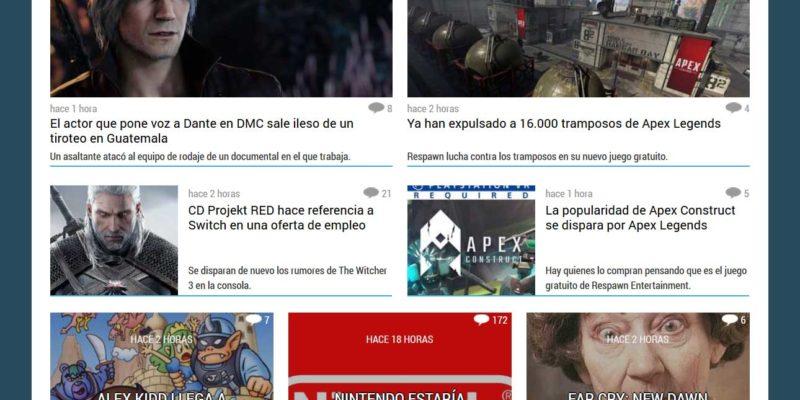 prensa de videojuegos